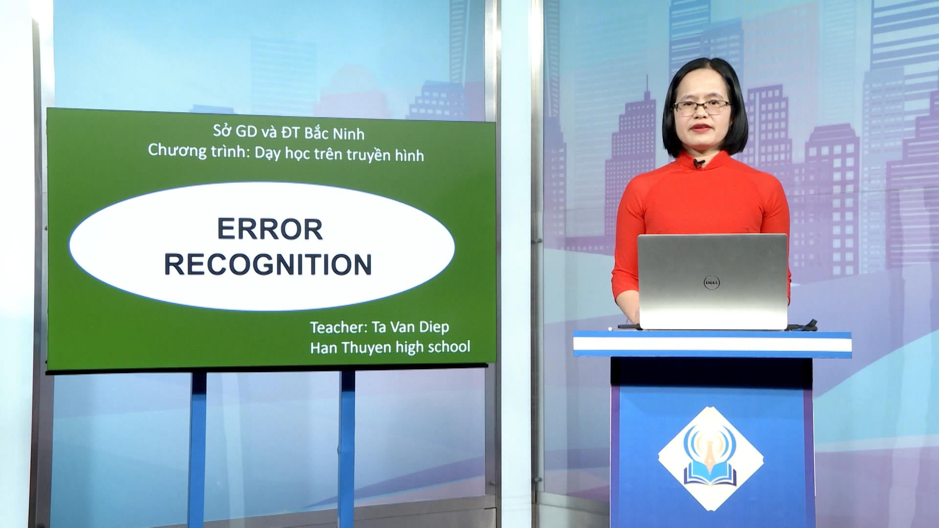 Tiếng anh lớp 12: Error recognition