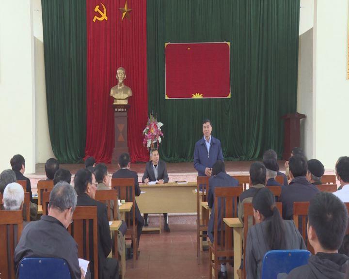 Phó Bí thư Thường trực Tỉnh ủy dự sinh hoạt tại Chi bộ thôn Phấn Động
