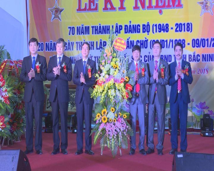 Kỷ niệm 70 năm thành lập Đảng bộ và 20 năm thành lập thị trấn Chờ