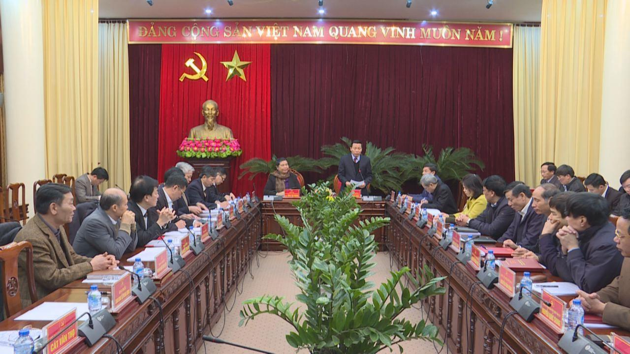 Đoàn công tác của Ban Bí thư T.Ư Đảng làm việc  với Ban Thường vụ Tỉnh uỷ Bắc Ninh
