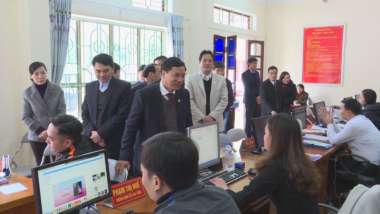 Lãnh đạo tỉnh thăm Trung tâm Hành chính công huyện Lương Tài