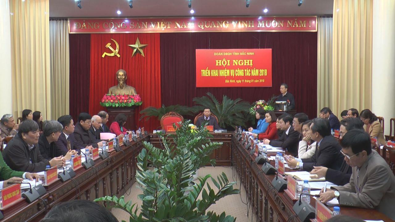 Đoàn Đại biểu Quốc hội tỉnh triển khai nhiệm vụ năm 2018