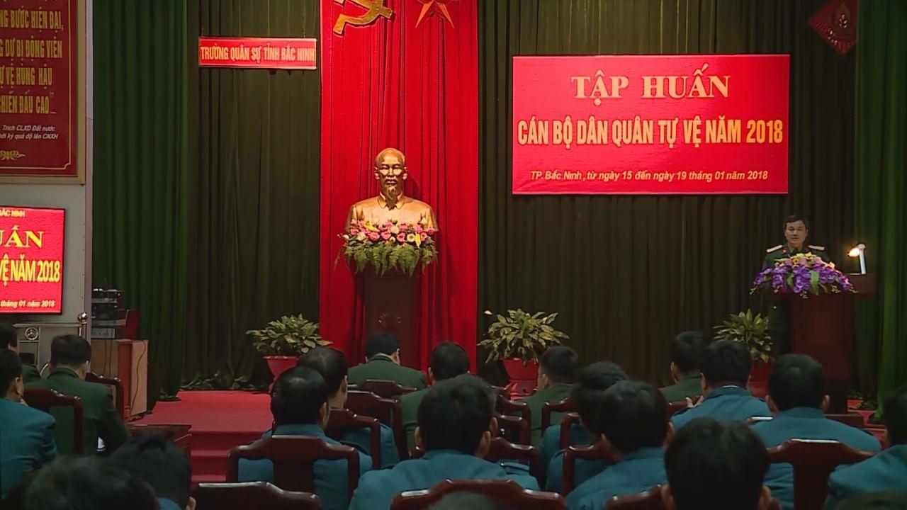 Bộ CHQS tỉnh khai mạc tập huấn dân quân tự vệ