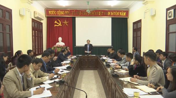 Đồng chí Nguyễn Tiến Nhường làm việc với thị xã Từ Sơn
