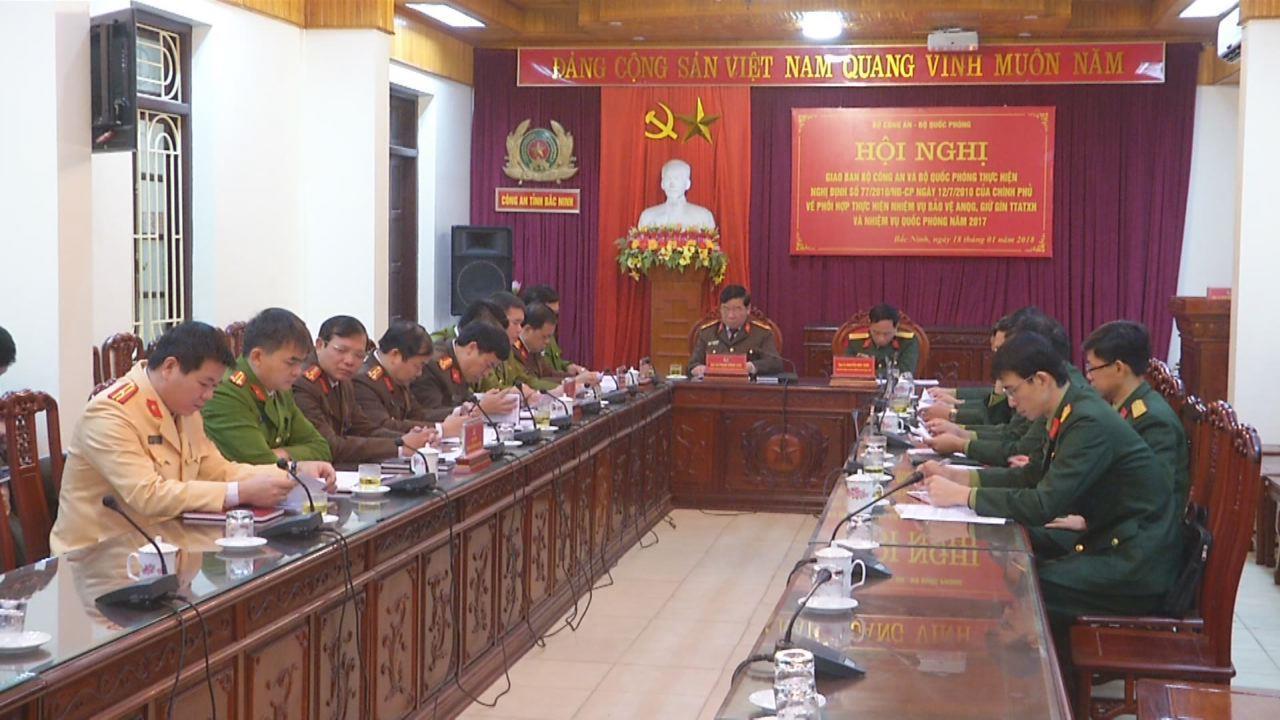 Giao ban trực tuyến thực hiện Nghị định 77/CP về phối hợp giữa Bộ Công an và Bộ Quốc phòng trong thực hiện nhiệm vụ bảo vệ an ninh Quốc gia