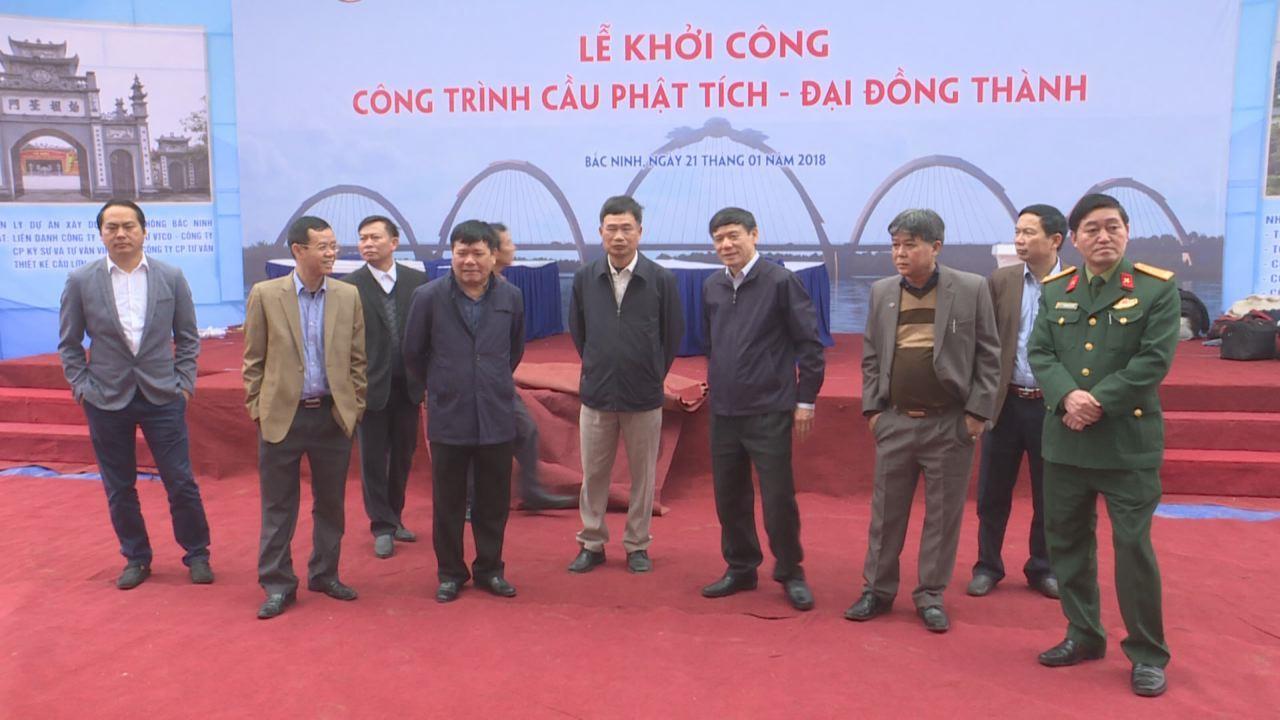 Đồng chí Nguyễn Tiến Nhường kiểm tra công tác chuẩn bị khởi công công trình cầu Phật Tích – Đại Đồng Thành