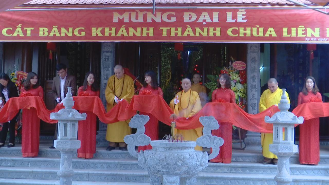 Giáo hội Phật giáo Việt Nam tỉnh Bắc Ninh khánh thành chùa Liên Hoa