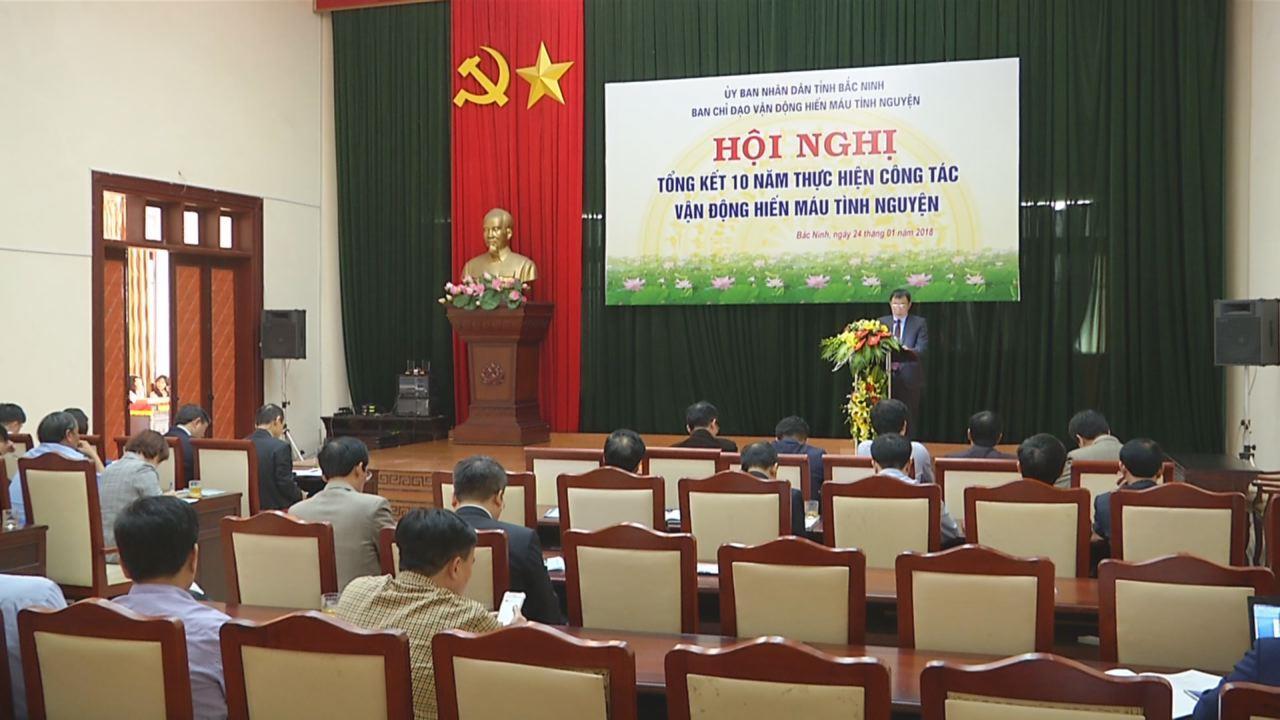 Bắc Ninh tổng kết 10 năm thực hiện vận động hiến máu tình nguyện