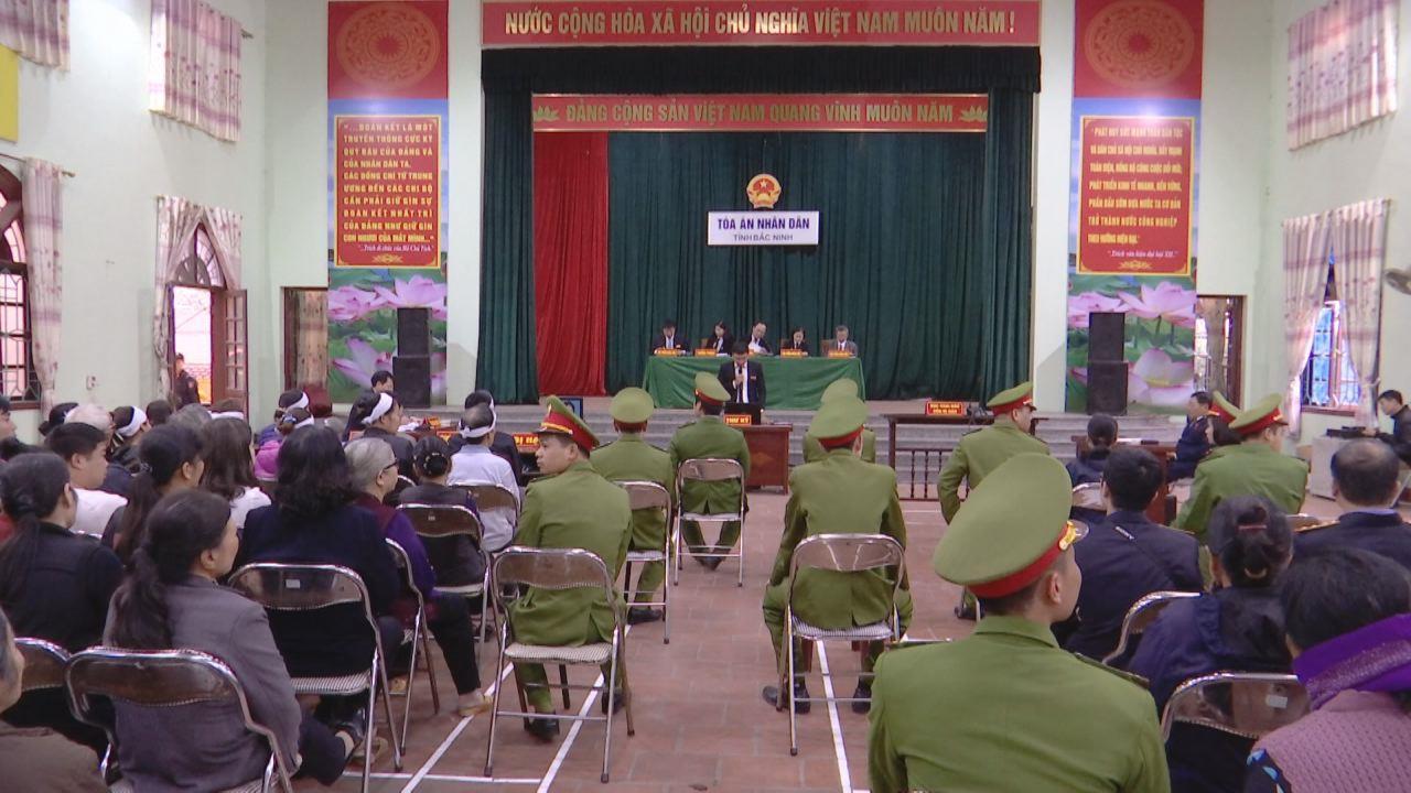 Xét xử đối tượng giết người, cướp tài sản tản tại thị trấn Lim, Tiên Du