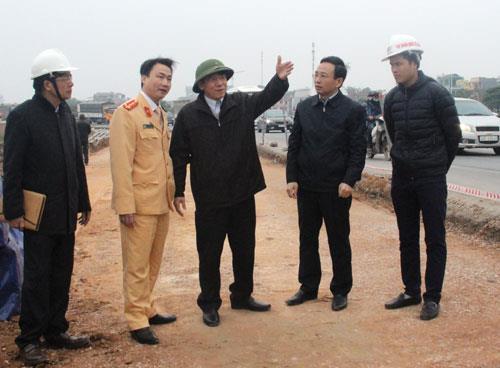 Phó Chủ tịch Thường trực UBND tỉnh Nguyễn Tiến Nhường kiểm tra công tác chỉnh trang đô thị thành phố Bắc Ninh