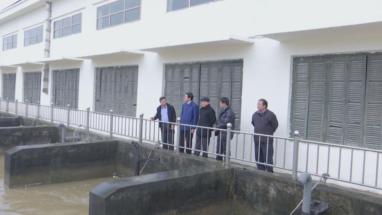 Đồng chí Nguyễn Xuân Thu Phó Chủ tịch HĐND kiểm tra sản xuất vụ xuân