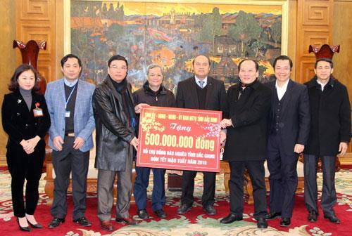 Chủ tịch UBND tỉnh Nguyễn Tử Quỳnh thăm, chúc Tết Đảng bộ và nhân dân tỉnh Bắc Giang