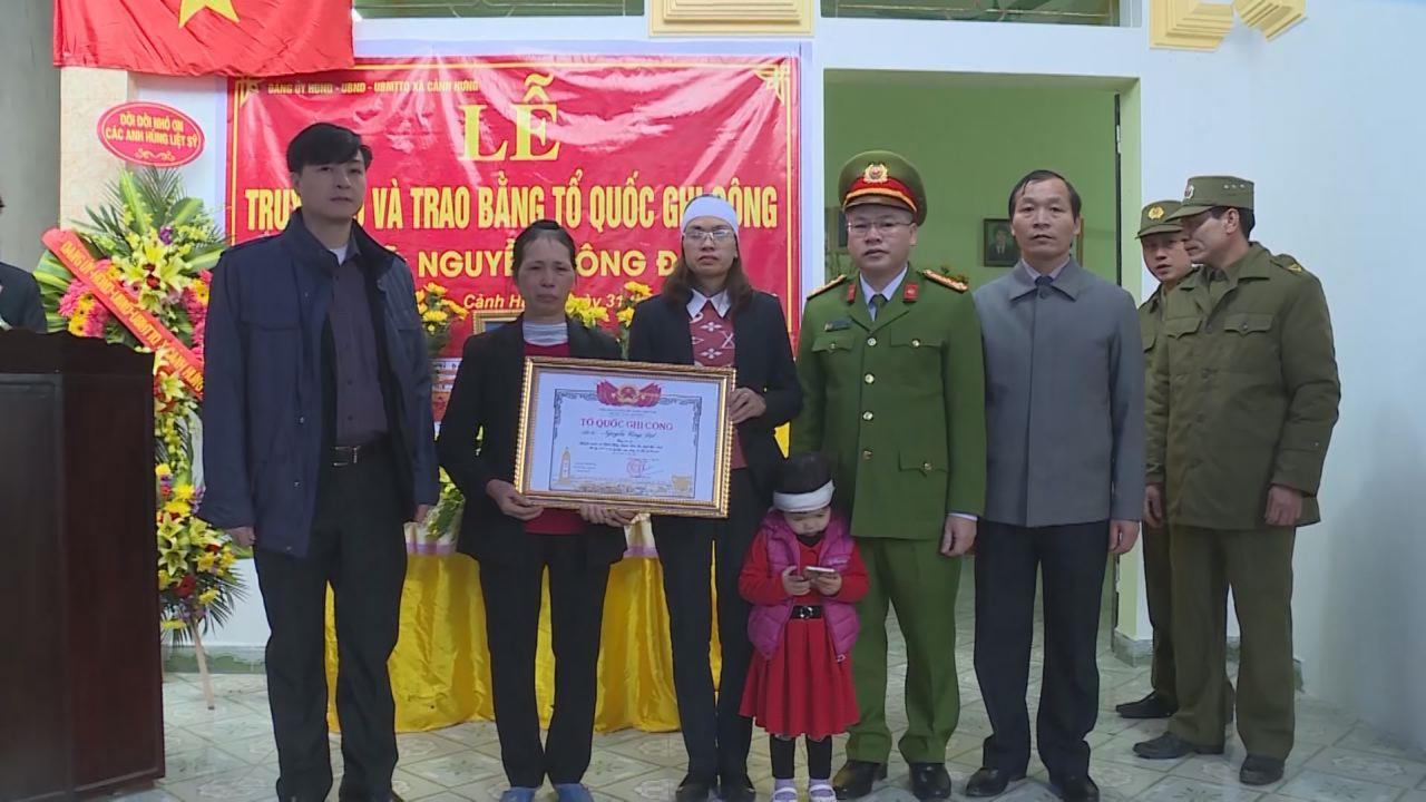 Lễ truy điệu và trao Bằng Tổ Quốc ghi công cho Liệt sỹ Nguyễn Công Đạt