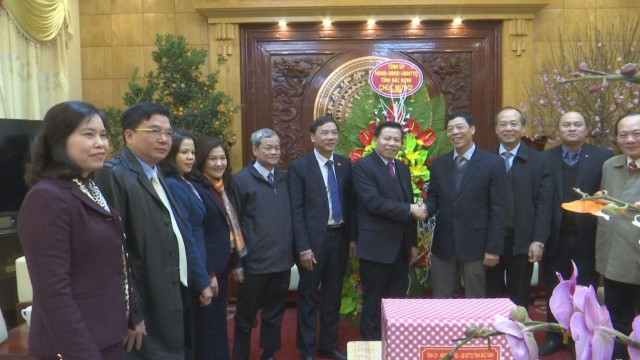 Đoàn đại biểu tỉnh Bắc Ninh chúc Tết tỉnh Bắc Giang