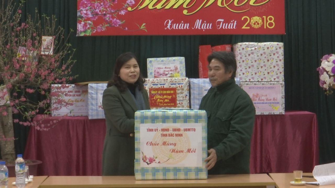 Phó trưởng đoàn Đại biểu Quốc hội tỉnh tặng quà Trung tâm Điều dưỡng Người có công tỉnh Bắc Giang