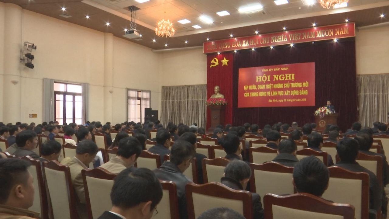 Tỉnh ủy tập huấn, quán triệt những chủ trương mới về lĩnh vực xây dựng Đảng