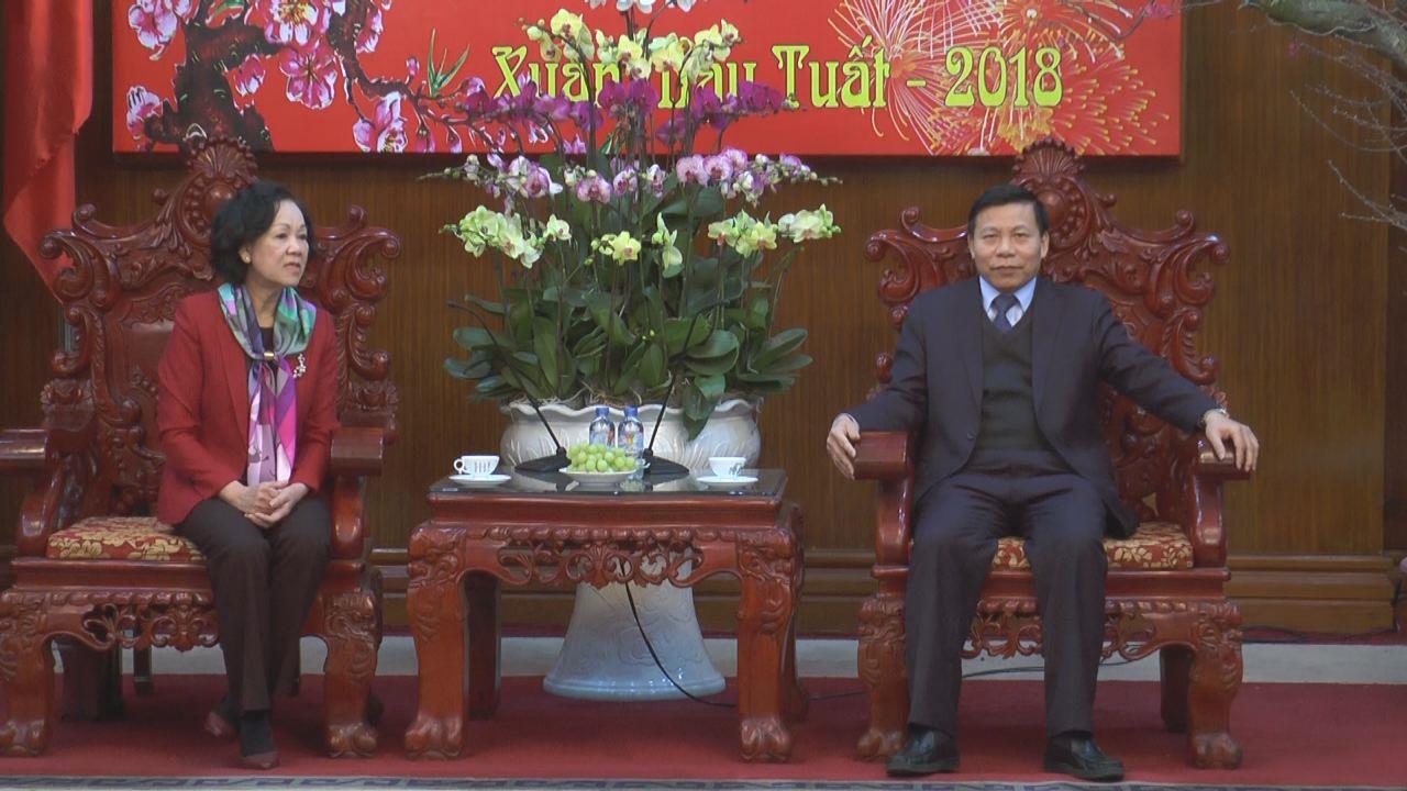 Ủy viên Bộ Chính trị, Bí thư TW đảng, Trưởng Ban Dân vận Trung ương Trương Thị Mai thăm và làm việc với tỉnh bắc Ninh và tặng quà tết bệnh nhân ung thư