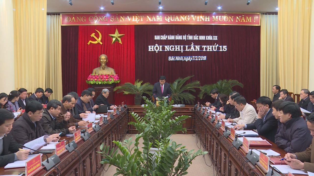 Hội nghị lần thứ 15 - BCH Đảng bộ tỉnh khóa XIX