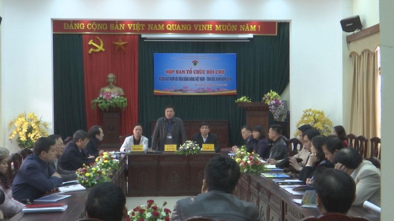 Họp Ban Tổ chức Hội chợ Người Việt Nam ưu tiên dùng hàng Việt Nam 2018