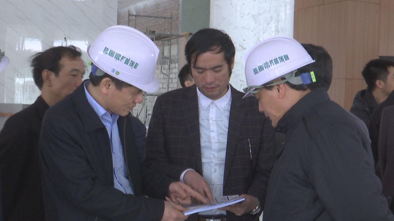 Phó Chủ tịch Thường trực UBND tỉnh Nguyễn Tiến Nhường kiểm tra tiến độ thi công Cung Quy hoạch – Kiến trúc Bắc Ninh