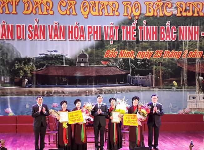 Bế mạc và trao giải Hội thi hát Dân ca Quan họ xuân Mậu Tuất 2018