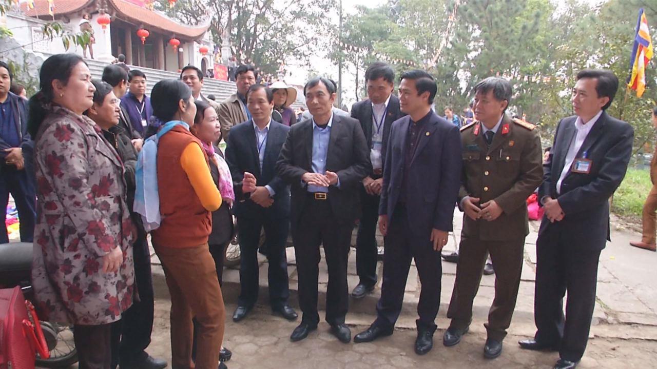 Phó Chủ tịch UBND tỉnh Nguyễn Văn Phong kiểm tra công tác chuẩn bị hội Lim