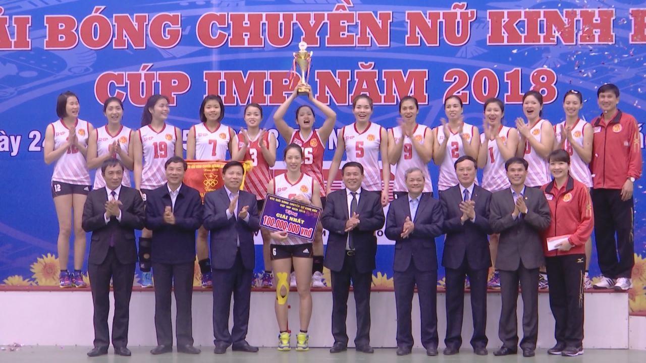 Kết thúc Giải bóng chuyền nữ Kinh Bắc - Cúp IMP 2018, đội chủ nhà vô địch