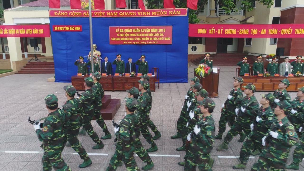 Lực lượng vũ trang tỉnh ra quân huấn luyện năm 2018