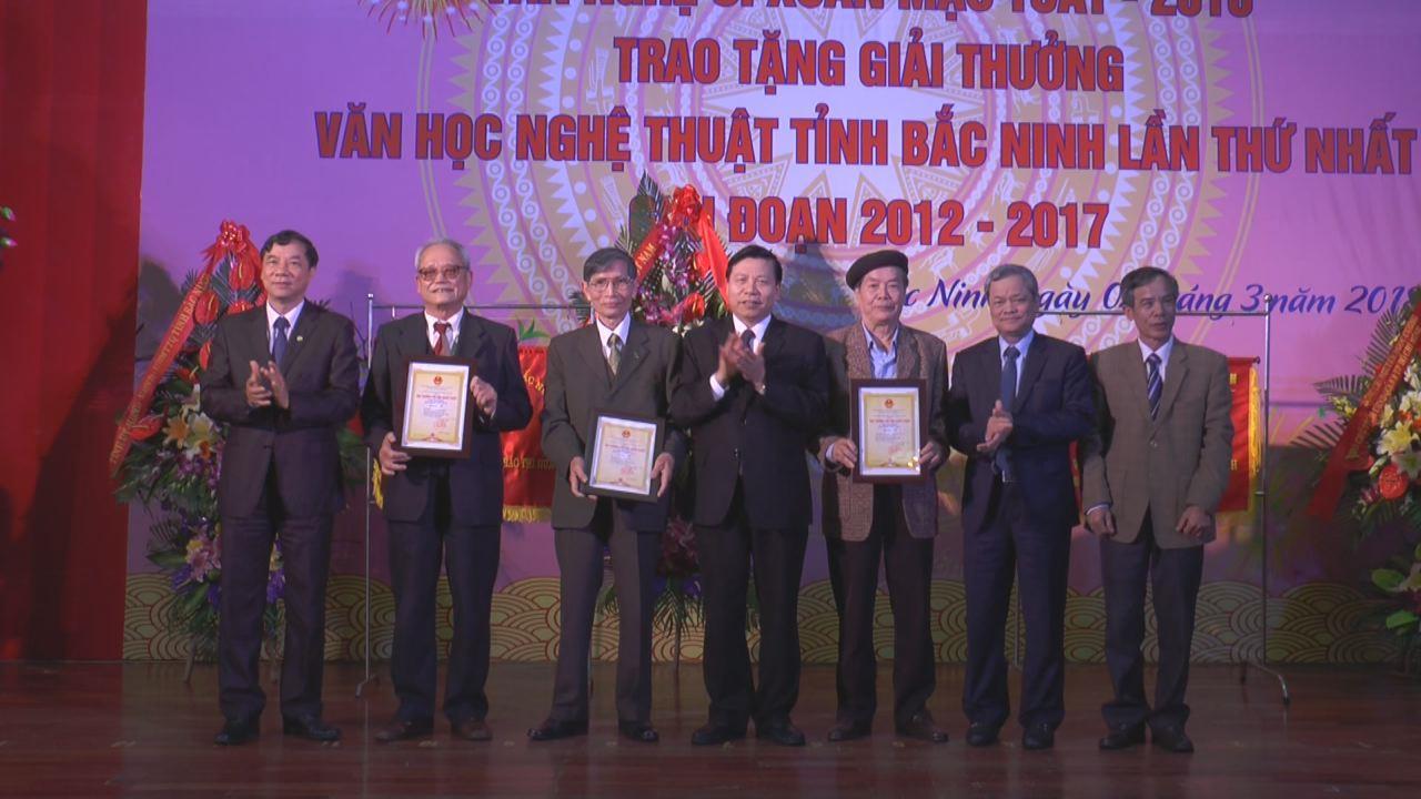 Lãnh đạo tỉnh gặp mặt Văn nghệ sĩ xuân Mậu Tuất 2018, trao tặng giải thưởng Văn học Nghệ thuật tỉnh Bắc Ninh lần thứ Nhất, giai đoạn 2012-2017