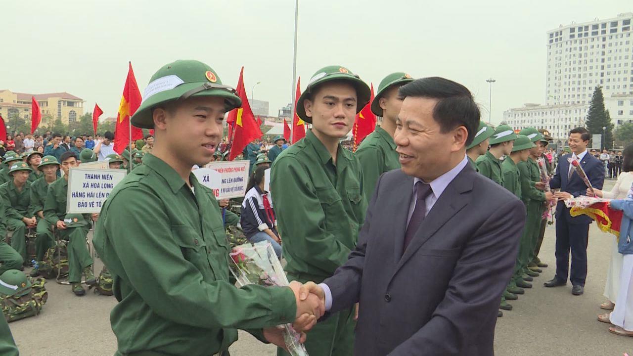 Bắc Ninh đồng loạt tổ chức Lễ giao nhận quân năm 2018