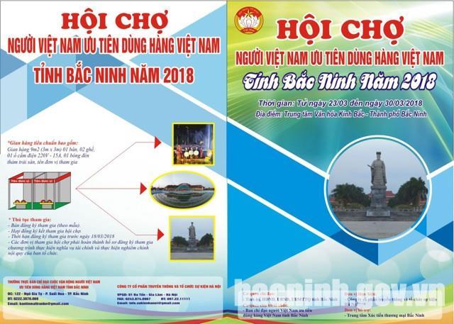 Hội chợ Người Việt Nam ưu tiên dùng hàng Việt Nam tỉnh Bắc Ninh 2018