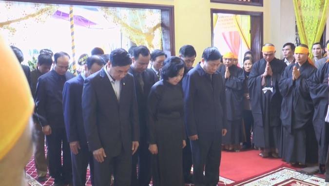 Ban Dân vận Trung ương viếng Đại lão Hòa thượng Thích Thanh Sam