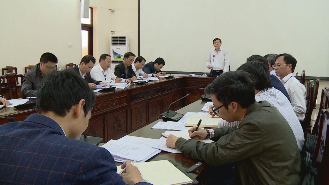 UBND tỉnh họp về công tác đầu tư xây dựng cơ bản