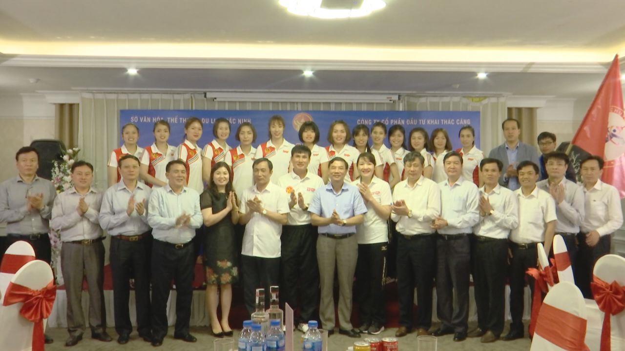 Lễ xuất quân Đội bóng chuyền nữ Kinh Bắc