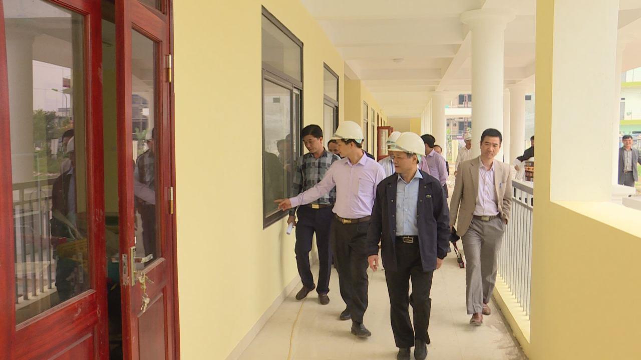 Chủ tịch UBND tỉnh kiểm tra tiến độ xây dựng trường học tại thành phố Bắc Ninh