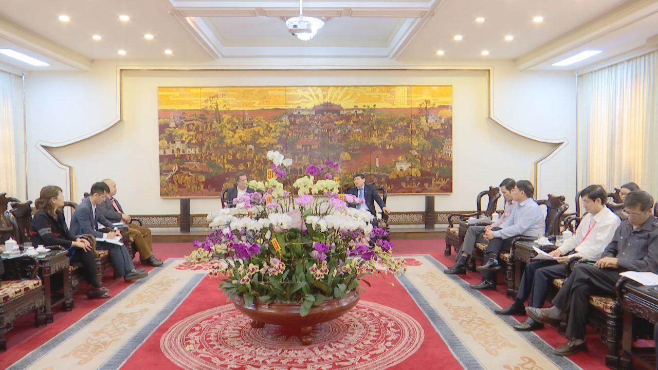 Phó Chủ tịch Thường trực UBND tỉnh tiếp chuyên gia tư vấn đầu tư dự án Bệnh viện Quốc tế