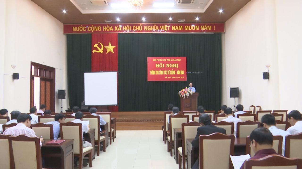 Hội nghị thông tin công tác tư tưởng văn hóa tháng 3