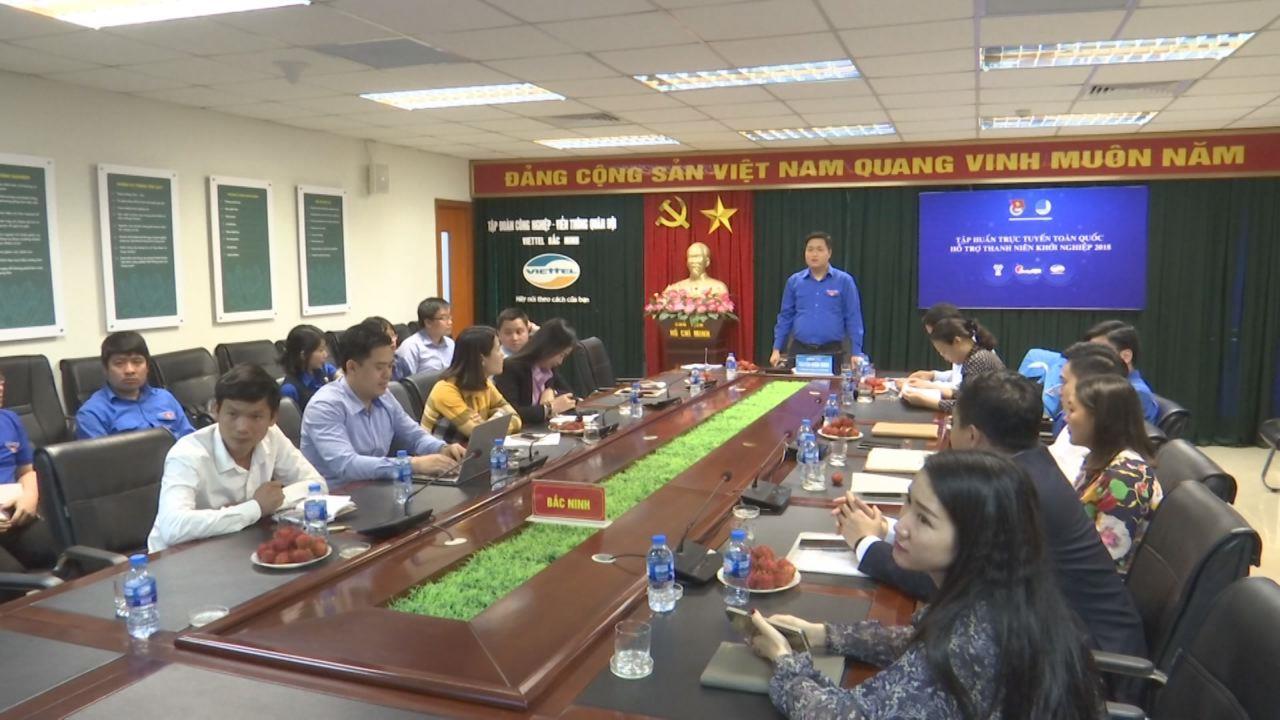 Tập huấn trực tuyến hỗ trợ thanh niên khởi nghiệp cho cán bộ Đoàn, Hội 2018