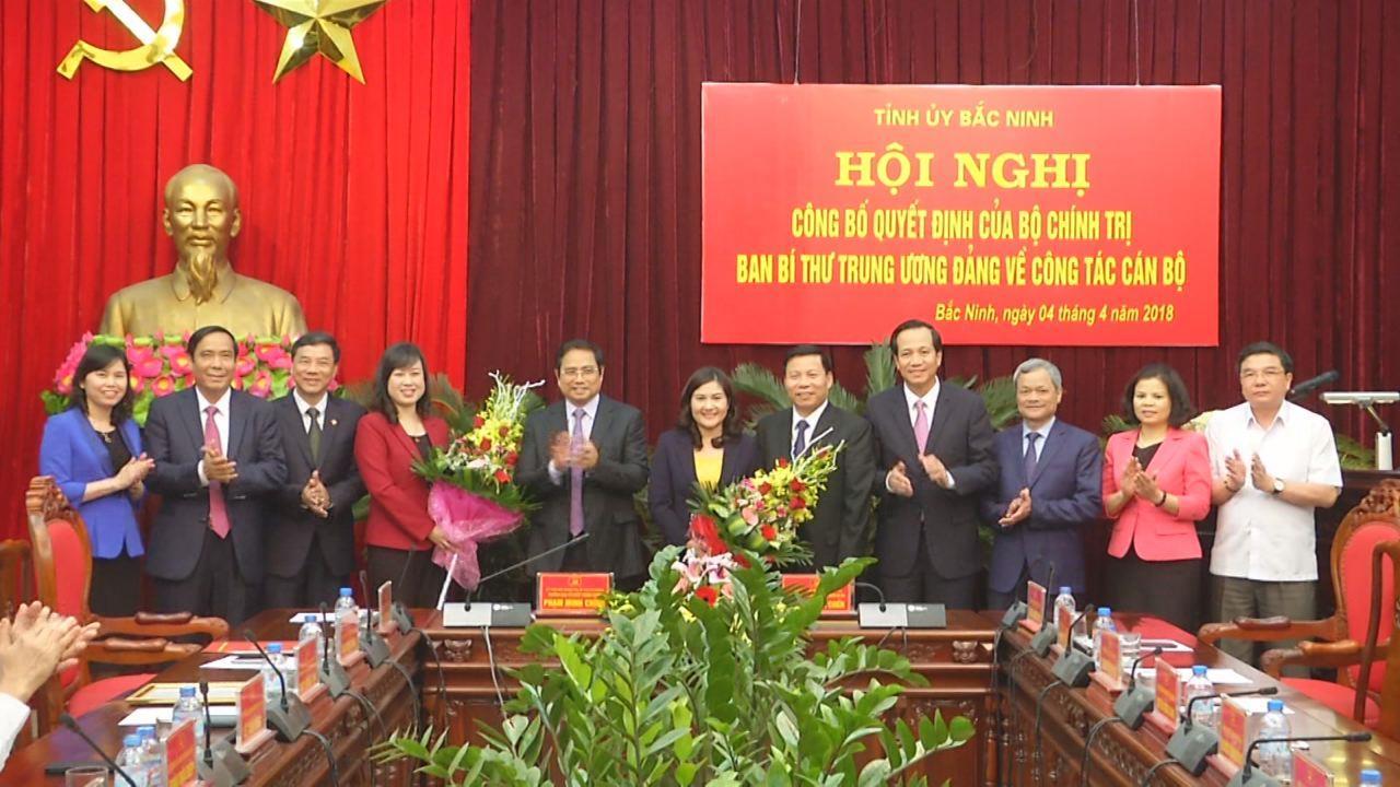 Tỉnh ủy Bắc Ninh công bố Quyết định về công tác cán bộ