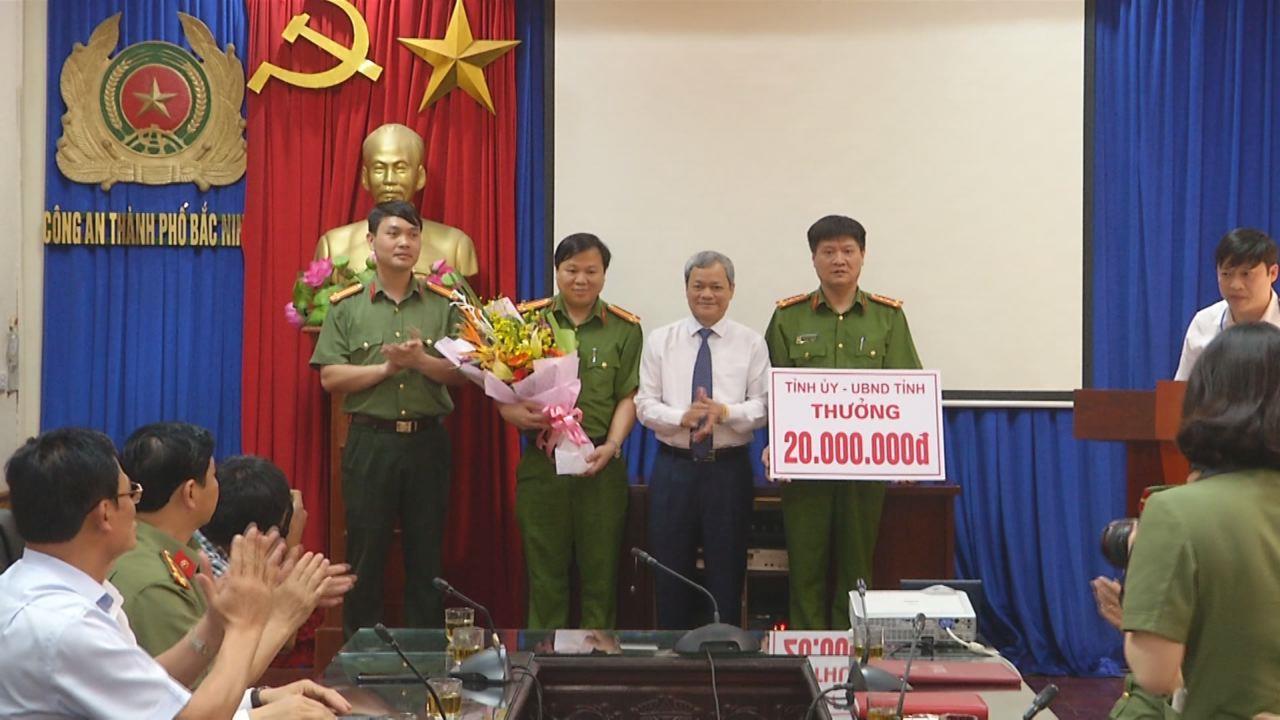Chủ tịch UBND tỉnh khen thưởng đột xuất Công an thành phố Bắc Ninh