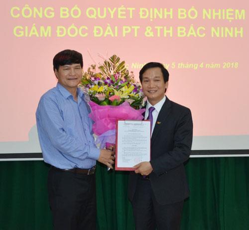 Lễ công bố Quyết định bổ nhiệm Giám đốc Đài PT&TH Bắc Ninh