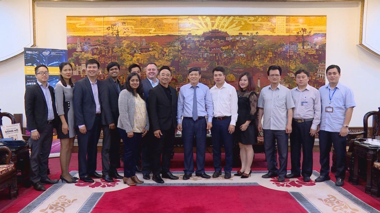 Phó Chủ tịch Thường trực UBND tỉnh tiếp và làm việc với Công ty Dell EMC