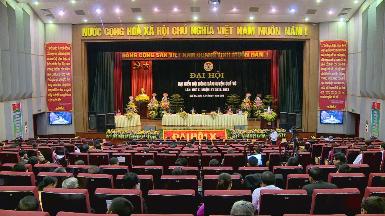 Đại hội Hội Nông dân huyện Quế Võ lần thứ X, nhiệm kỳ 2018-2023