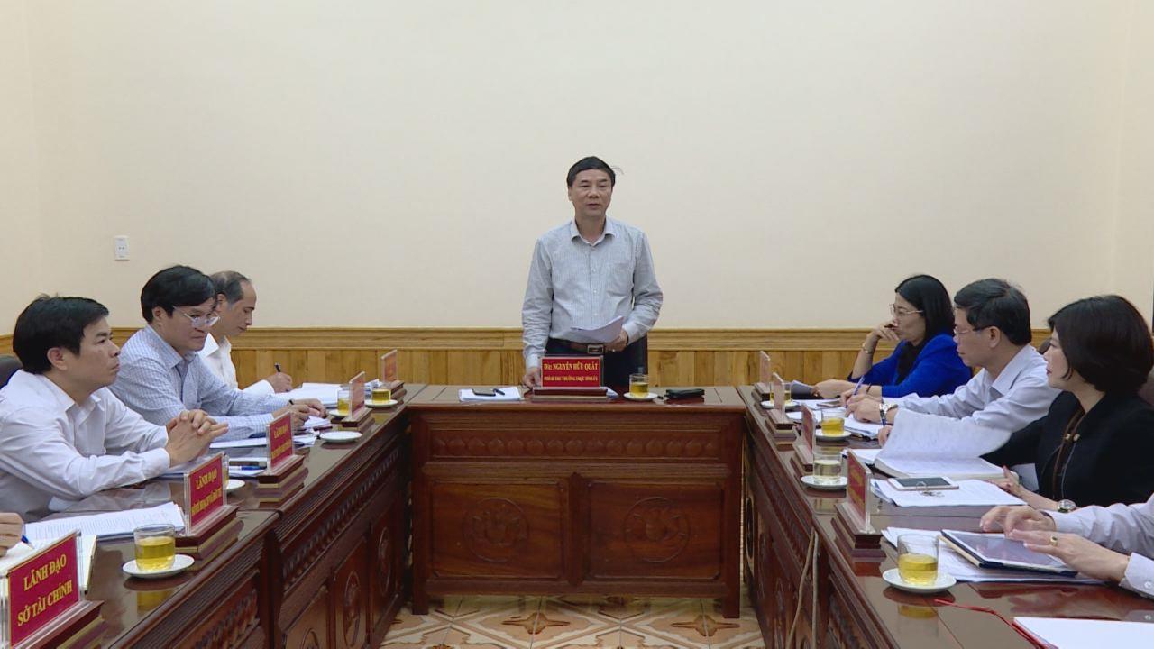 Lãnh đạo tỉnh làm việc với Trường Chính trị Nguyễn Văn Cừ
