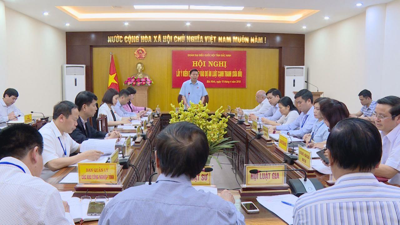 Đoàn Đại biểu Quốc hội tỉnh lấy ý kiến đóng góp vào Dự án Luật Cạnh tranh (sửa đổi)