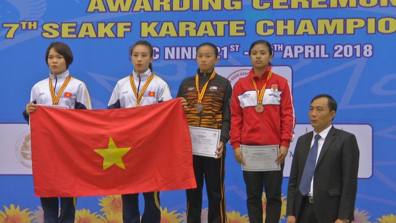 Bế mạc Giải Karate Đông Nam Á tại Bắc Ninh