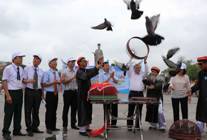 Khai mạc Hội thi Thả chim bồ câu tỉnh Bắc Ninh năm 2018