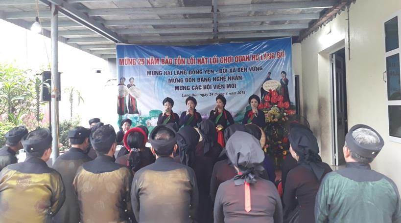 Câu lạc bộ Quan họ Châm Khê: 25 năm một chặng đường gìn giữ di sản