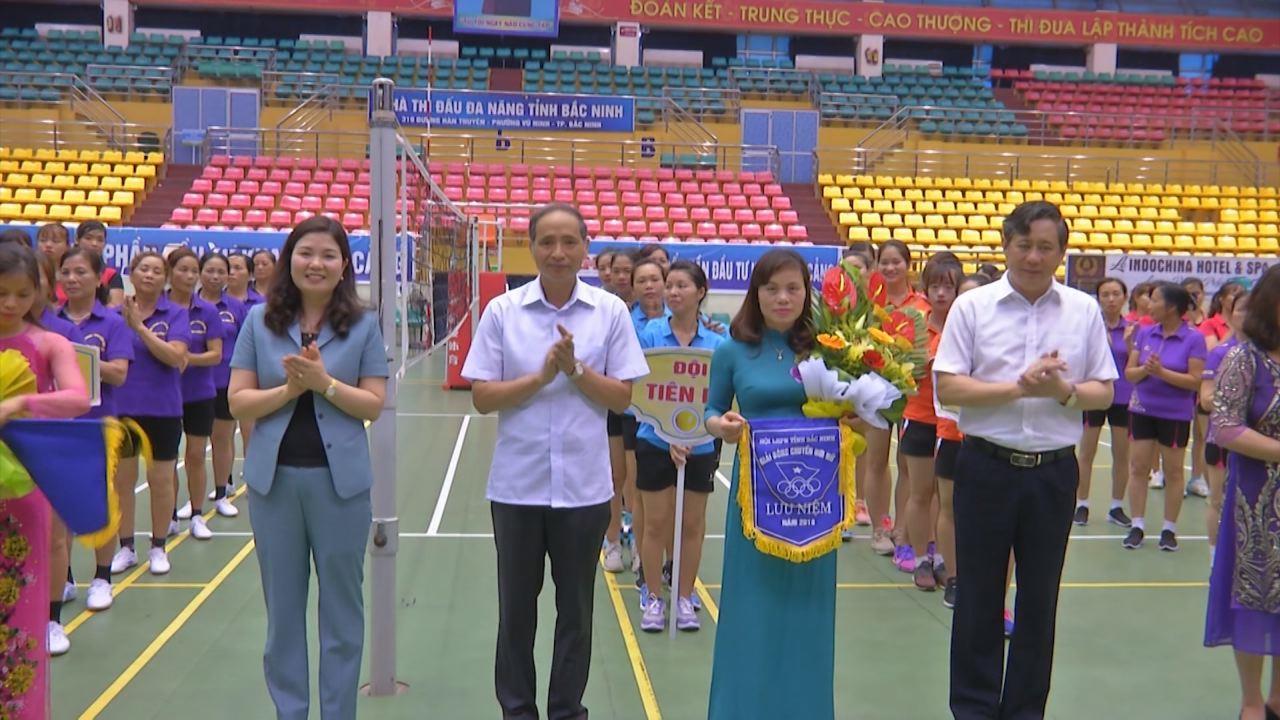 Khai mạc Giải Bóng chuyền hơi nữ Bắc Ninh lần thứ nhất 2018