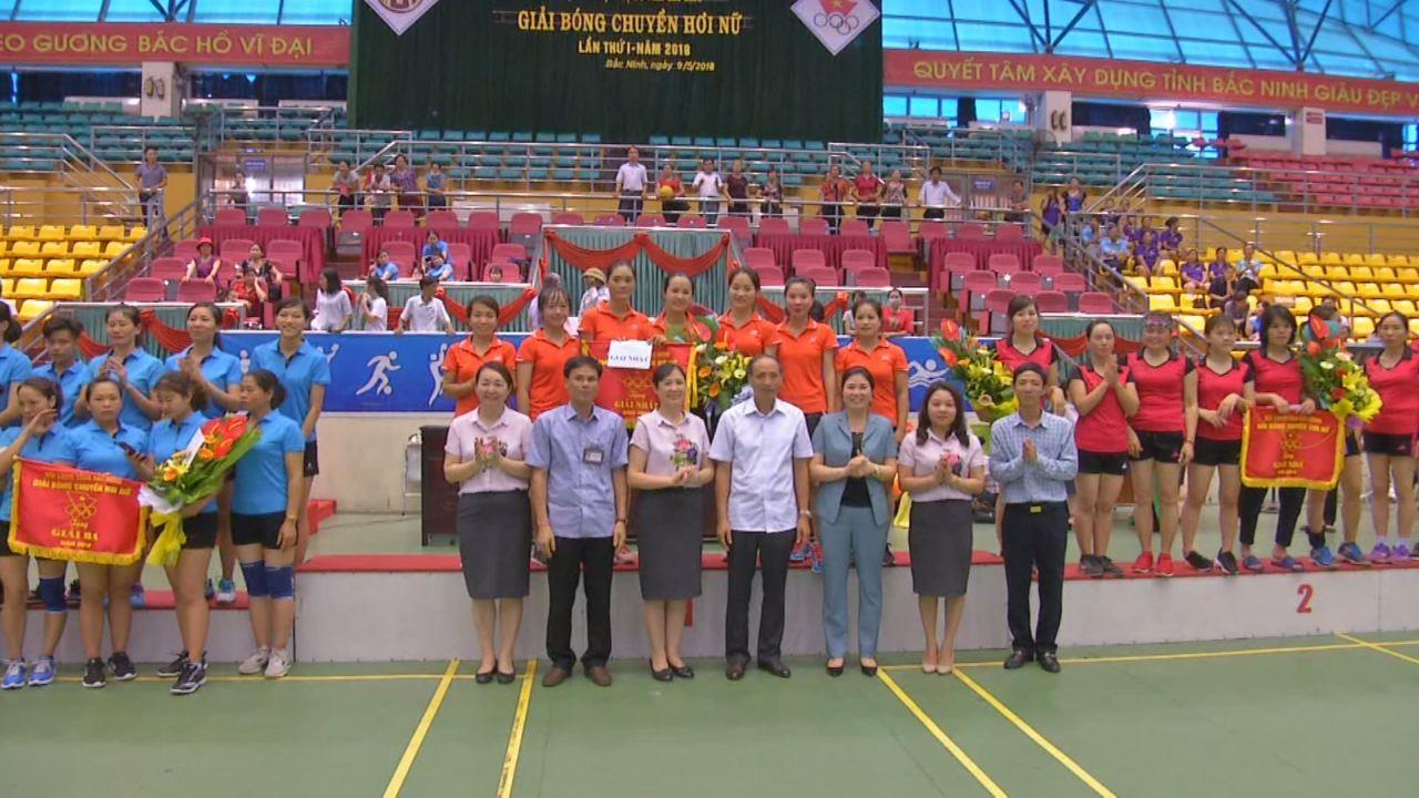 Kết thúc Giải Bóng chuyền hơi nữ tỉnh Bắc Ninh lần thứ nhất